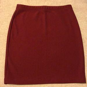 NWT Maroon Mini Skirt